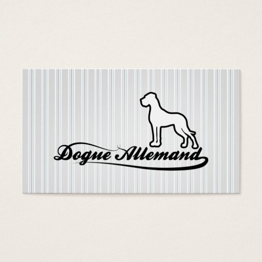 German Dogge visiting card