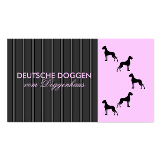 German Dogge visiting card Double-Sided Standard Business Cards (Pack Of 100)