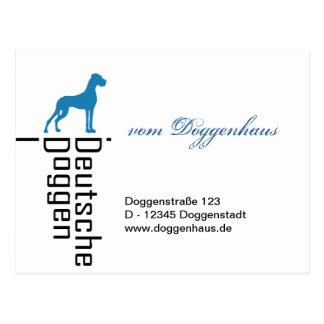 German Doggen Postcard