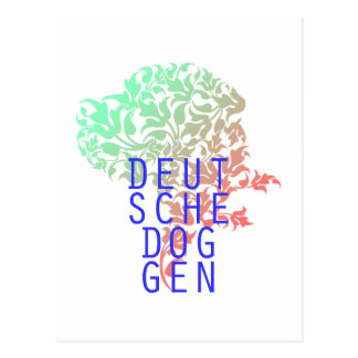 German Doggen sheet head Postcard