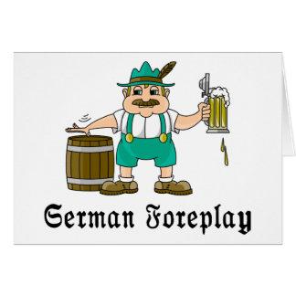 German Drinking Greeting Card