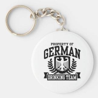 German Drinking Team Basic Round Button Keychain