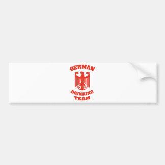 German Drinking Team Bumper Sticker
