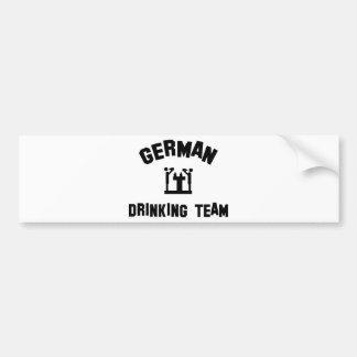 german drinking team car bumper sticker