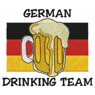 German Drinking Team Embroidered Shirt Polo Shirts