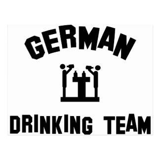 german drinking team postcard