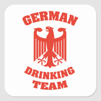 German Drinking Team Square Stickers