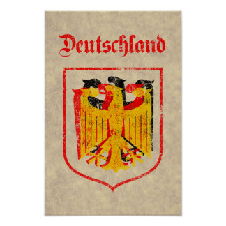 German Eagle Artistic Poster