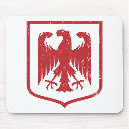 German Eagle - Deutschland coat of arms Mouse Pad