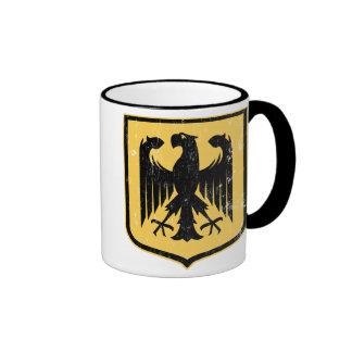 German Eagle - Deutschland coat of arms Ringer Mug