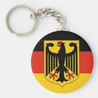 German Eagle Flag Basic Round Button Keychain