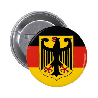 German Eagle Flag Pinback Button