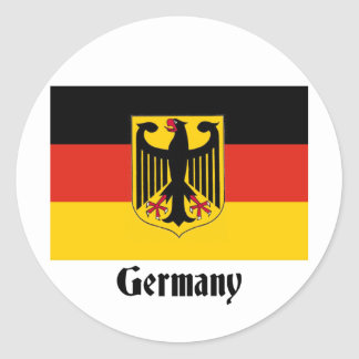 German Eagle Flag Stickers