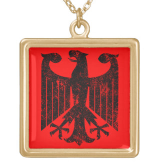 German Eagle Gold Plated Necklace