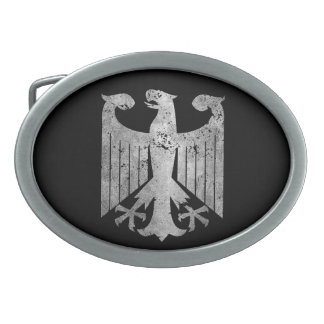German Eagle Oval Belt Buckle