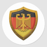 German Eagle Shield Classic Round Sticker