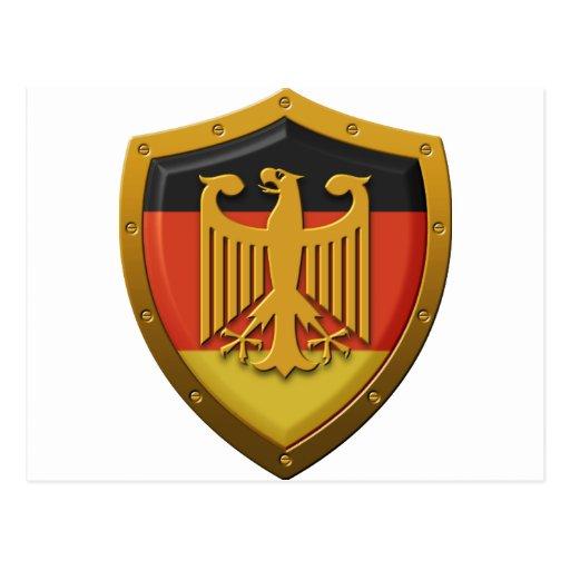 German Eagle Shield Post Cards