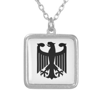 German Eagle Silver Plated Necklace