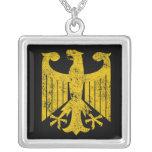 German Eagle Square Pendant Necklace
