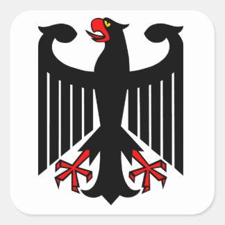 German Eagle Square Sticker
