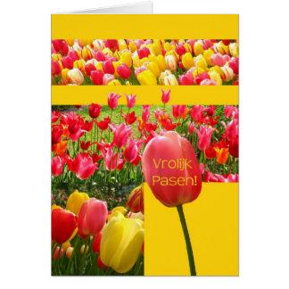 German Easter Tulips Card