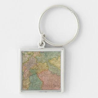 German Empire Atlas Map Key Chains