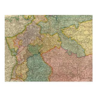 German Empire Atlas Map Postcard