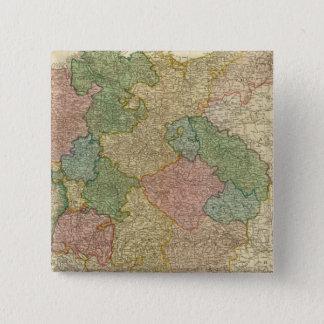 German Empire Map Pinback Button