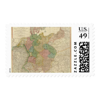 German Empire Map Stamps
