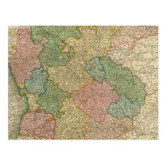 German Empire Map Postcard