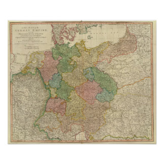 German Empire Map Poster