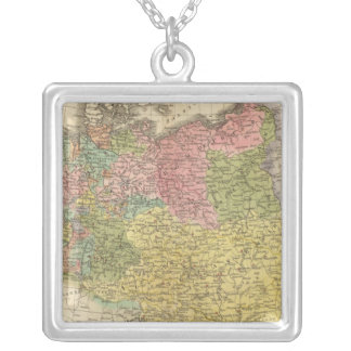 German Empire Square Pendant Necklace