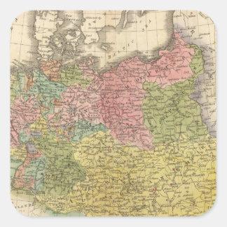 German Empire Square Sticker