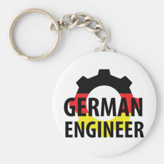 german engineer sign basic round button keychain