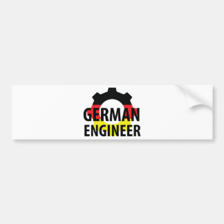 german engineer sign bumper sticker