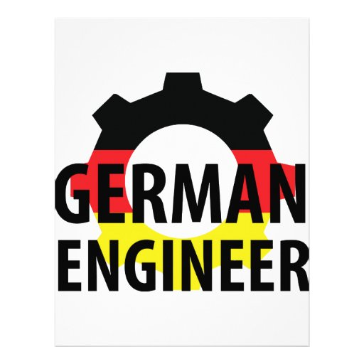 german engineer sign personalized letterhead
