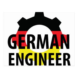 german engineer sign postcard