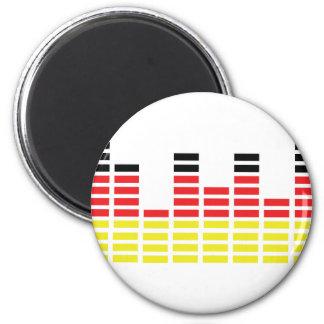 german equalizer icon 2 inch round magnet