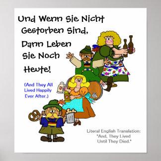 German Fairytale Happy Ending Octoberfest Poster