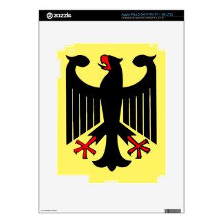 German Federal Black Eagle on Yellow Shield iPad 3 Decal
