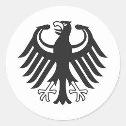 German federal eagle classic round sticker