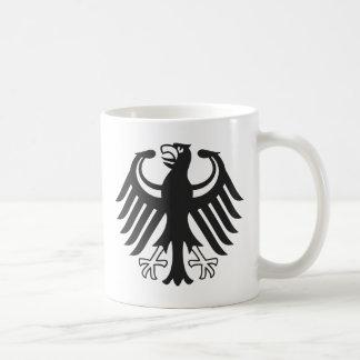 German federal eagle classic white coffee mug