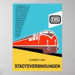 German Federal Railways vintage travel poster