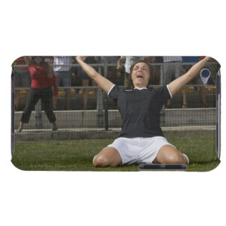German female soccer player celebrating goal barely there iPod case