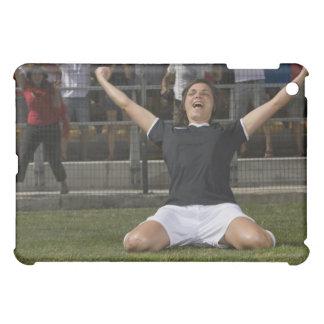 German female soccer player celebrating goal iPad mini cases