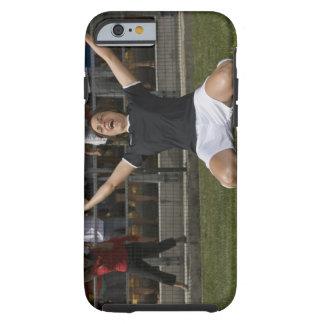 German female soccer player celebrating goal tough iPhone 6 case