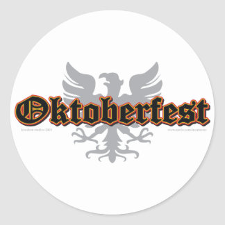 German-Fest-Bird Round Sticker