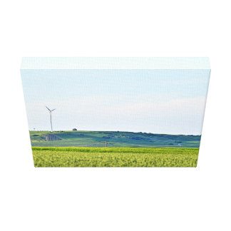 German Field Using Sustainable Energy Canvas Print