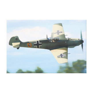 German Fighter in Action Canvas Print
