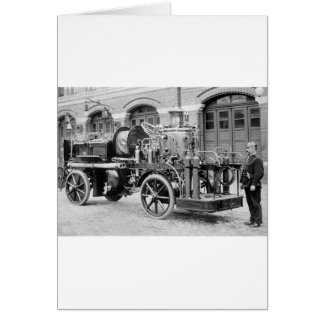 German Fire Engine, early 1900s Greeting Card
